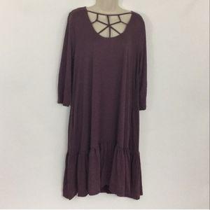Beautiful deep purple tunic dress